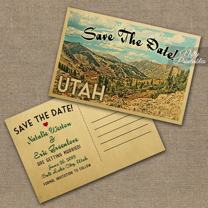 Utah Save The Date Postcards VTW