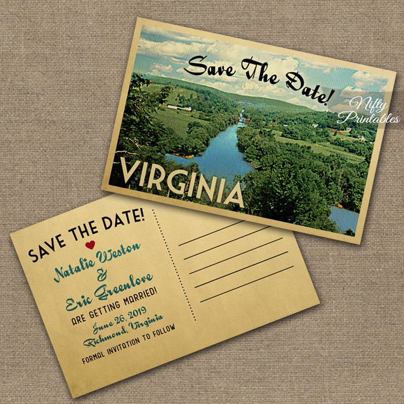 Virginia Save The Date Postcards VTW