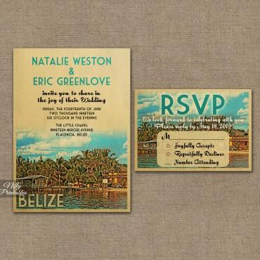 Belize Wedding Invitations VTW
