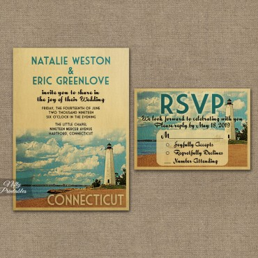 Connecticut Save The Date Postcards VTW