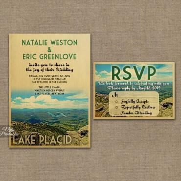 Lake Placid Save The Date Postcards VTW