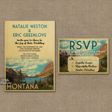 Montana Save The Date Postcards VTW