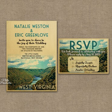 West Virginia Save The Date Postcards VTW