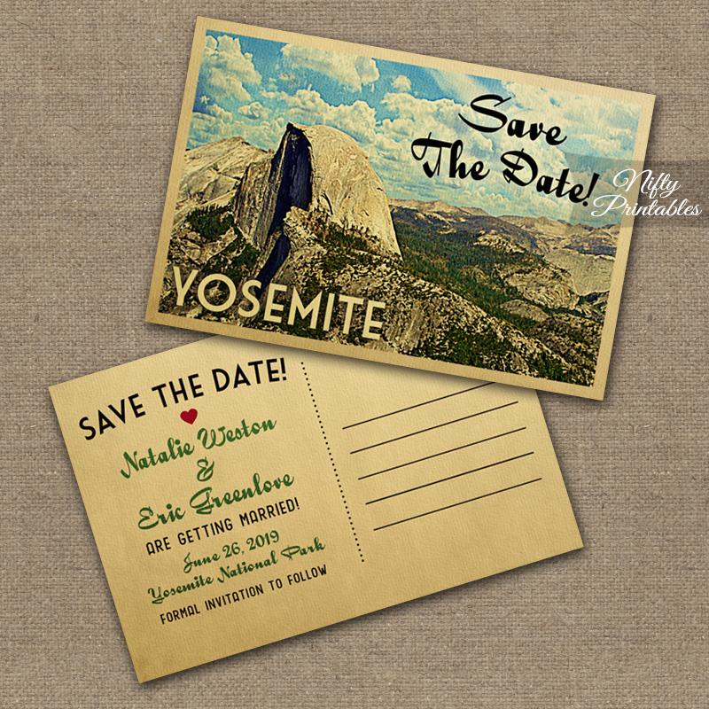 Yosemite Save The Date Postcards VTW