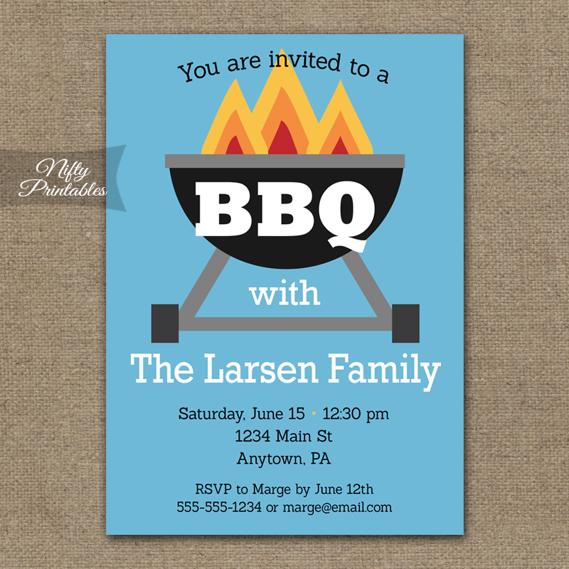 BBQ Party Invitations - Barbeque