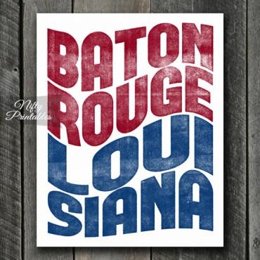Baton Rouge Louisiana Poster Print