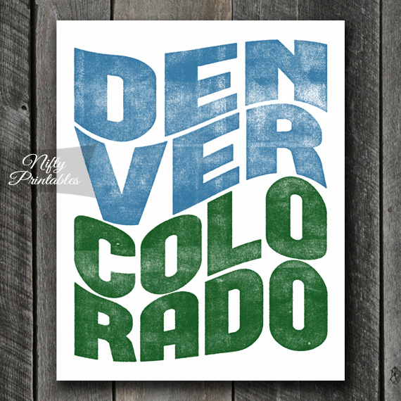 Denver Colorado Poster Print