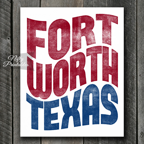 Fort Worth Texas Poster Print