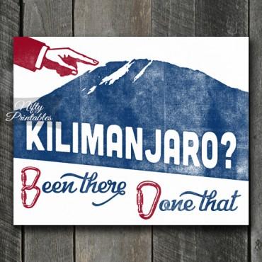 Kilimanjaro Mountain Climber Print