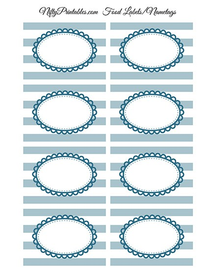 Blue Blank Labels Nametags