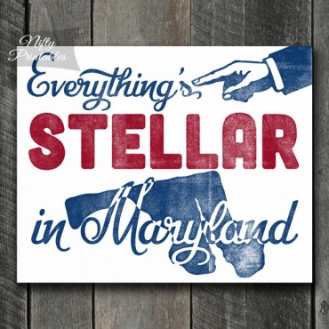 Maryland Retro Poster Print