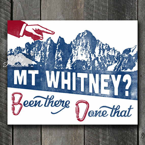 Mt Whitney Mountain Climbing Print