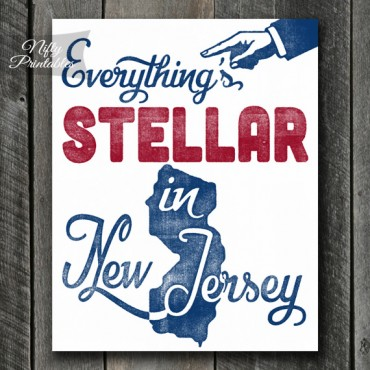 New Jersey Retro Poster Print