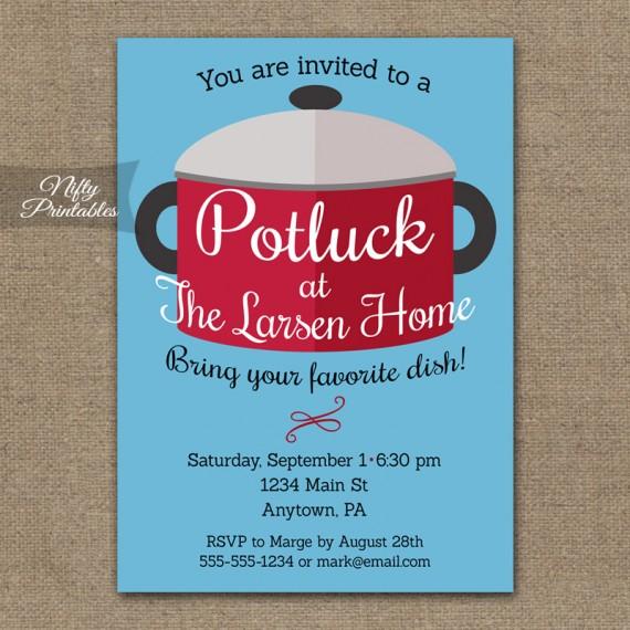 Potluck Invitations