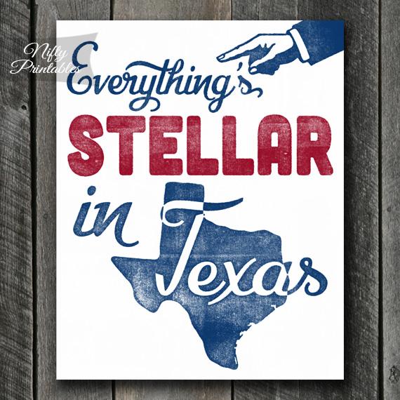 Texas Retro Poster Print