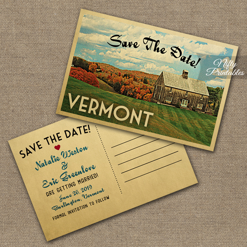 Vermont Wedding Invitations - Country Wedding VTW