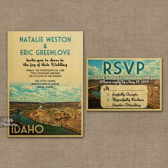 Idaho Wedding Invitations VTW