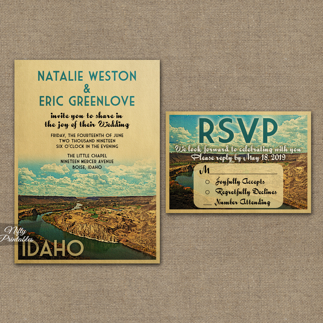Idaho Save The Date Postcards VTW