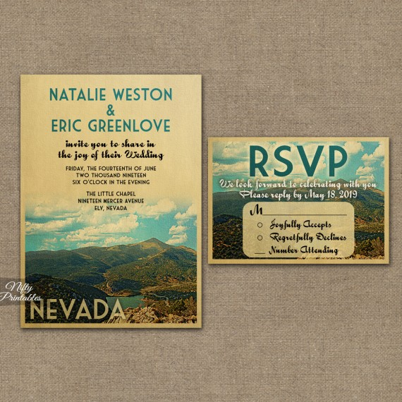 Nevada Save The Date Postcards VTW