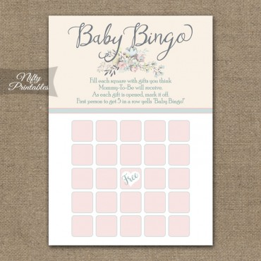 Baby Shower Bingo Game - Floral Bouquet