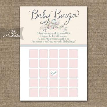 Baby Shower Bingo Game - Floral Bouquet