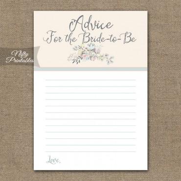 Bridal Shower Advice Cards - Floral Bouquet