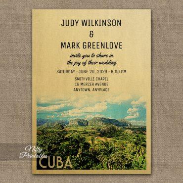 Cuba Wedding Invitations PRINTED