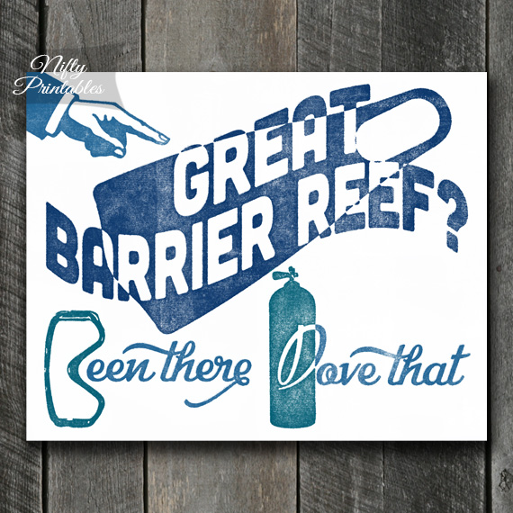 Great Barrier Reef Scuba Diving Print