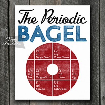 Bagel Print - Funny Periodic Table Art