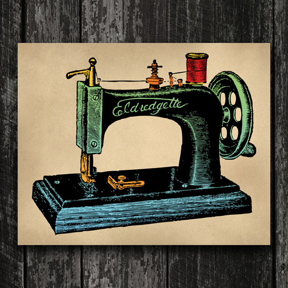 Sewing Machine Print - Vintage Sewing