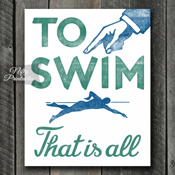 To Swim Print - Swimming Art