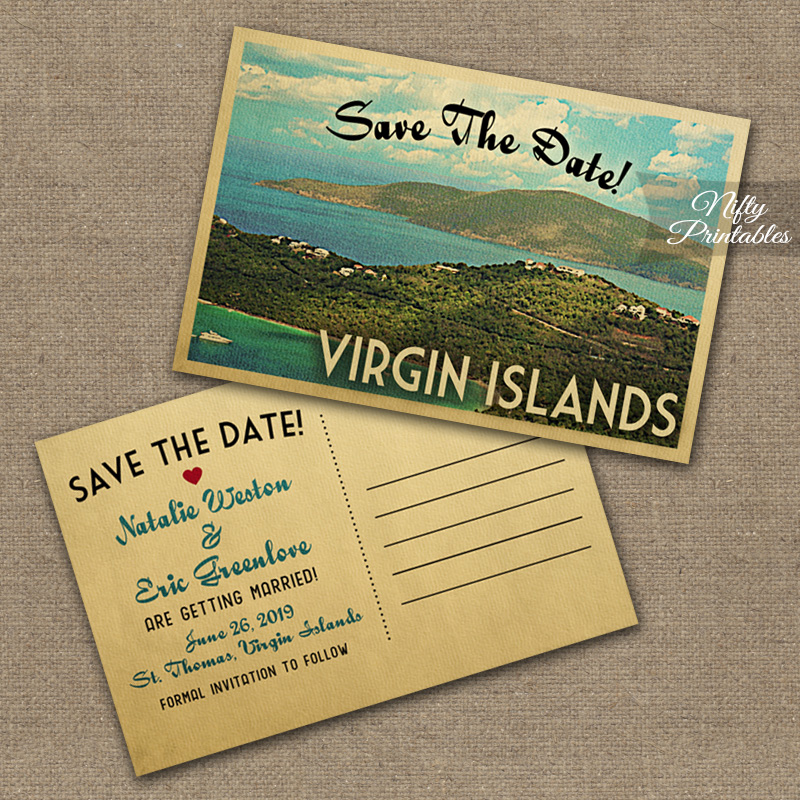 Virgin Islands Wedding Invitations VTW