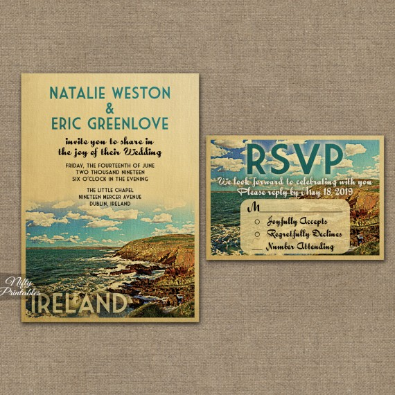 Ireland Wedding Invitations VTW