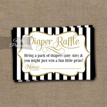 Diaper Raffle Baby Shower - Black Gold