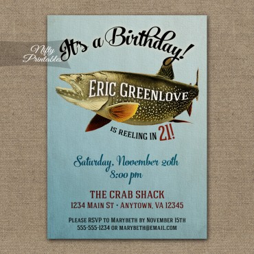 Fishing Invitations - Fishing Birthday Party