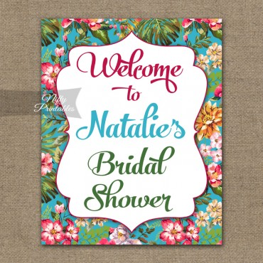 Tropical Bridal Shower Welcome Sign