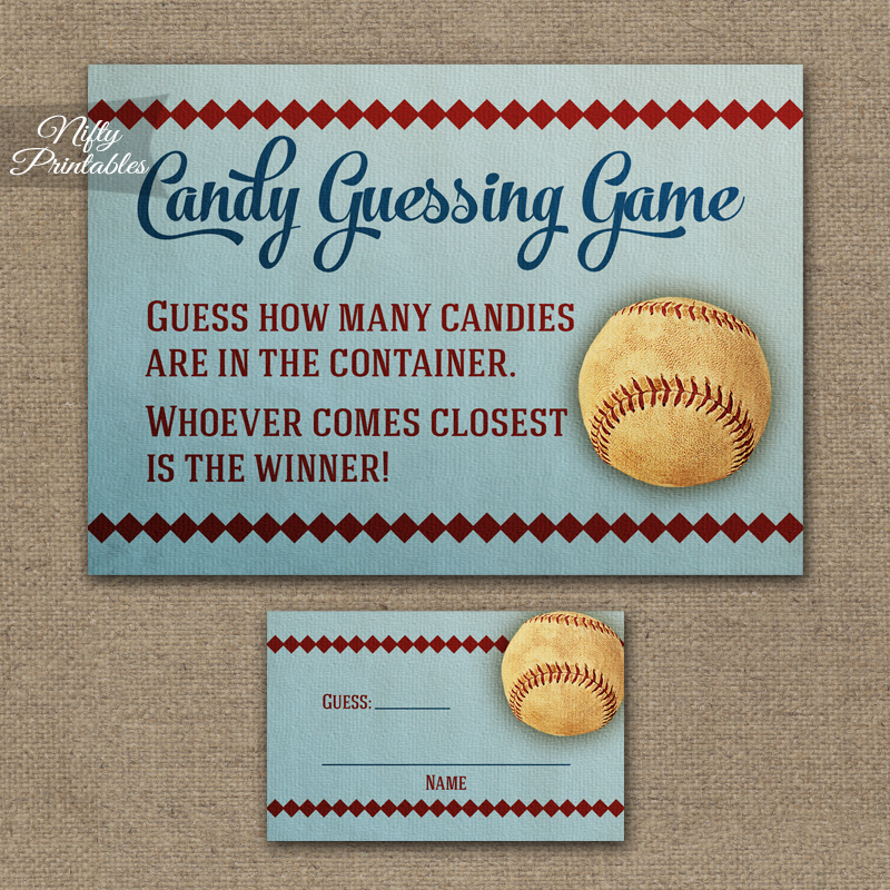 Candy Guessing Game - Baseball