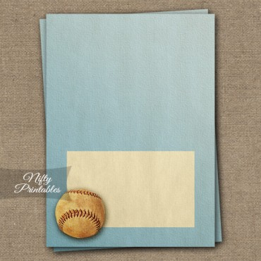 Tent Cards - Place Cards - Buffet Cards - Vintage Baseball