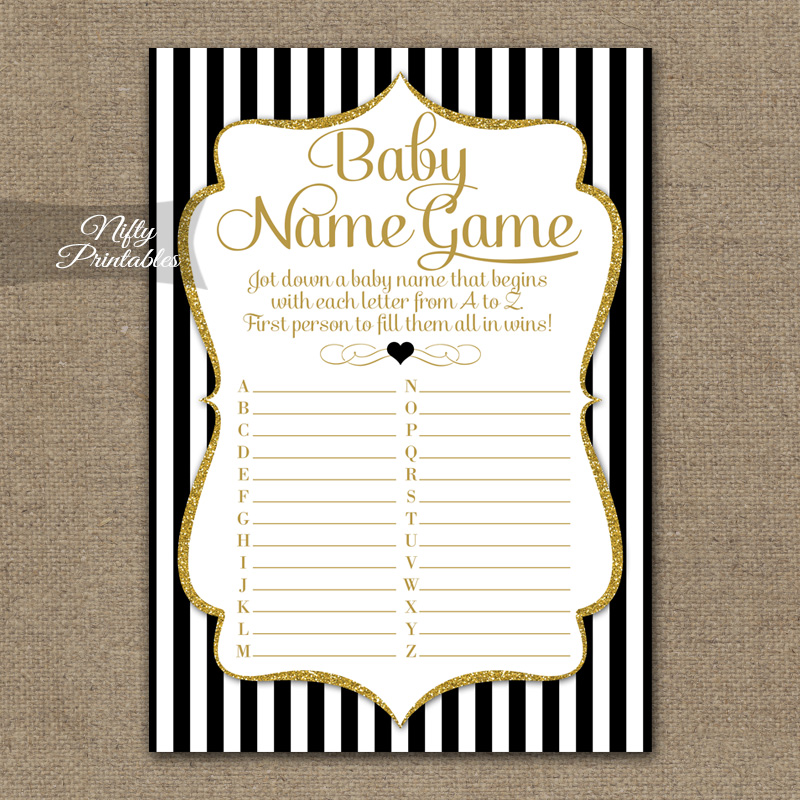 The Baby Name Game - Black Gold