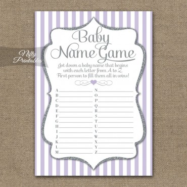 The Baby Name Game - Lilac Silver