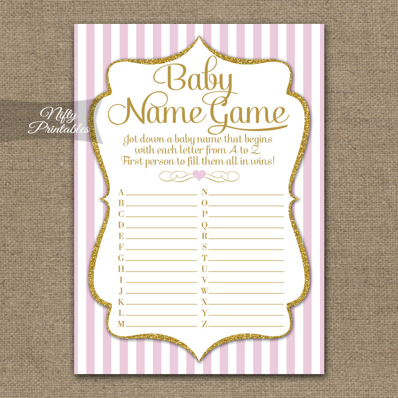The Baby Name Game - Pink Gold