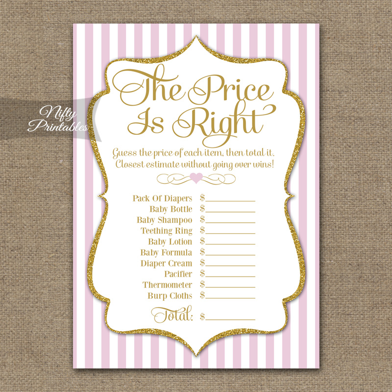 Price Is Right Bridal Shower - Pink Gold