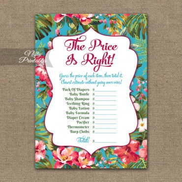 Price Is Right Baby Shower - Tropical Luau