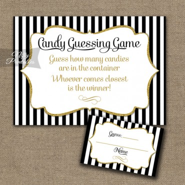 Candy Guessing Game - Black Gold