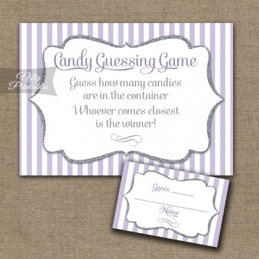Candy Guessing Game - Lilac Silver