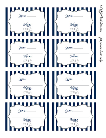 image relating to Guess Who Game Printable known as Printable Sweet Guessing Match - Armed service Blue Silver