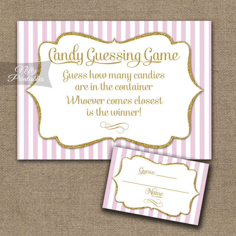 Candy Guessing Game - Pink Gold