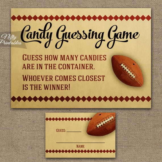 Candy Guessing Game - Football