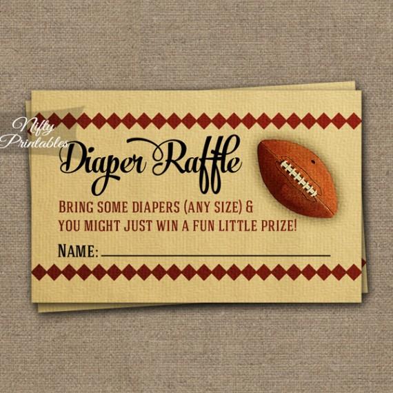 Diaper Raffle Baby Shower - Football