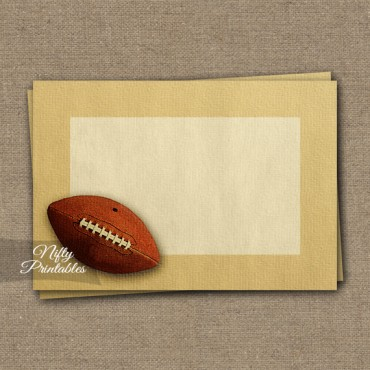 Food Labels - Nametags - Vintage Football